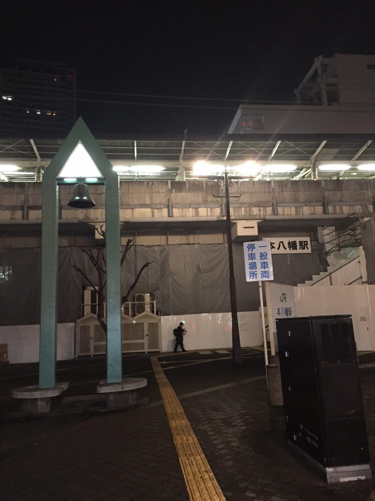 深夜のタクシー乗り場
