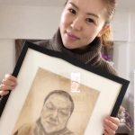 肖像画 鉛筆だけで描きました