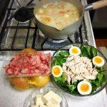 お家で手作りサラダ