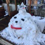 本八幡 花カフェの雪だるま