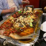 焼き魚山椒入り辛味炒め