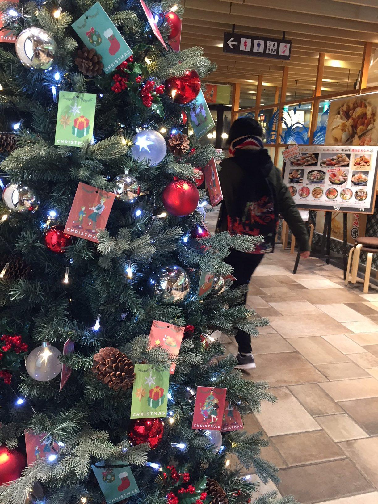 シャポー本八幡のクリスマスツリー