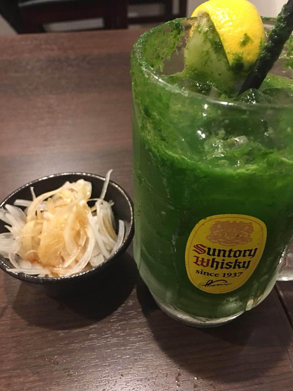 居酒屋七の子の小松菜サワー